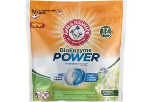 Arm & Hammer BioEnzyme Power Biodegrable Detergent Paks Botanical Springs - 17 CT