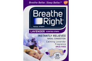 Breathe Right Nasal Strips Lavender Scented Strips - 26 CT