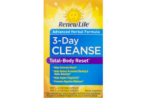 RenewLife 3-Day Cleanse Total-Body Reset - 12 CT