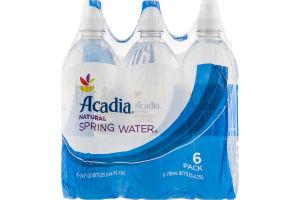 Acadia Natural Spring Water - 6 PK
