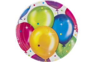 Party Creations Birthday Balloons Plates 6 7/8 Inch - 8 CT