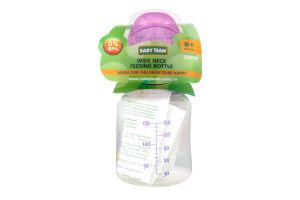 Пляшечка Baby Team д/годування з широк. горлом 150мл 0+ 1003