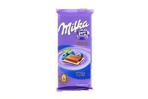 Шоколад черника-крем Kraft Milka 90г