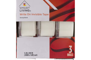 Smart Living Write On Invisible Tape - 3 CT