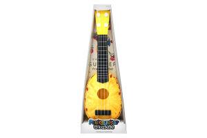 Іграшка гітара арт. 77-06B2, ананас, у коробці 41.5×15×5.3 см