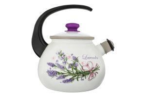 Чайник эмалированный 2.5л №27115/2 Букет лаванды Idilia 1шт