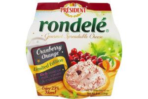 President Rondele Gourmet Spreadable Cheese Cranberry Orange