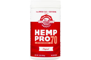 Manitoba Harvest Hemp Protein Pro 70 Plant Based Protein Supplement Original