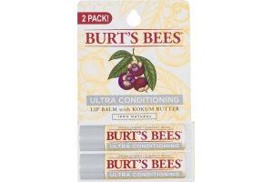 Burt's Bees Ultra Conditioning Lip Balm with Kokum Butter - 2 PK