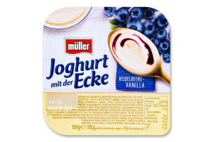 Йогурт 3.5% Чорниця-ваніль Müller ст 150г
