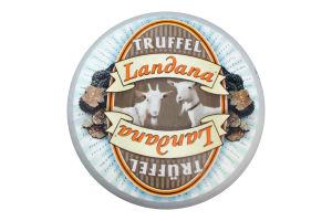 Сир 50% козячий зі смаком трюфеля твердий Truffle Landana кг