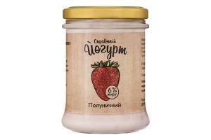 Йогурт 6% клубничный Коза Чка с/б 180г