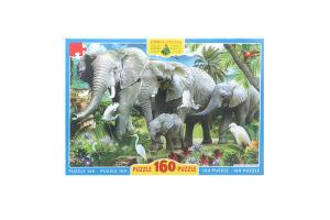 Пазли для дітей від 3рок Слони Київська Фабрика Іграшок 160ел