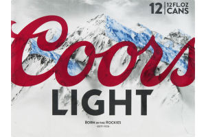 Coors Light Beer Cans - 12 CT