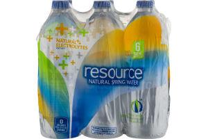 Resource Natural Spring Water Electrolytes - 6 CT