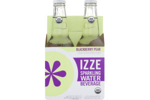 Izze Sparkling Water Beverage Blackberry Pear - 4 CT