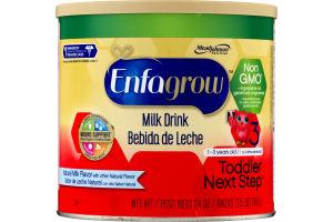 Enfagrow Milk Drink Toddler Next Step 1-3 years Natural Milk Flavor