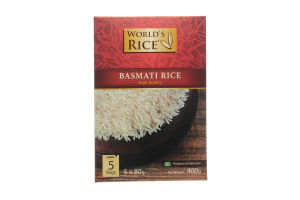 Рис Басмати в пакетиках World's Rice к/у 5х80г