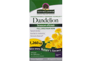 Nature's Answer Dandelion Supplement - 90 CT