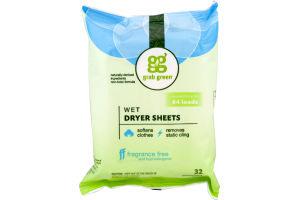 Grab Green Wet Dryer Sheets - 32 CT