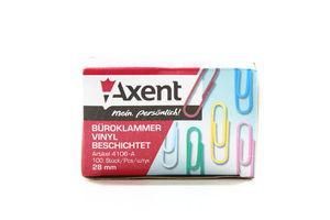 Скріпки Axent з пластиковим покриттям 100шт 4106-А