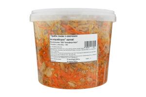 Салат закусочний Гриби гливи з овочами по-корейськи Ноосфера-Агро кг