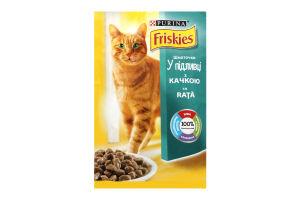 Корм для взрослых котов с уткой в подливке Friskies м/у 100г