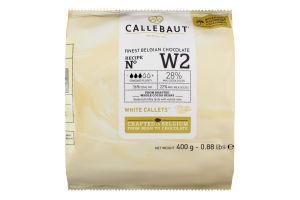 Шоколад 28% White callets Callebaut м/у 400г