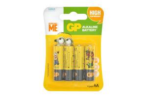 Батарейки GP Minions GP15AU YOY-2UE4шт, АА
