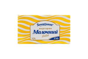 Маргарин 70% столовый Молочный Особый Запорізький м/у 250г
