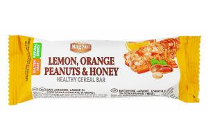Батончик MagNut Лимон,арахіс,цукати та мед 35г х20