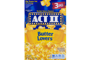 ACT II Microwave Popcorn Butter Lovers - 3 CT