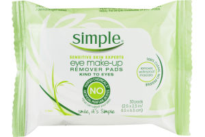 Simple Eye Make-up Remover Pads - 30 CT