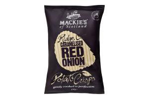 Чіпси картопляні хвилясті зі смаком карамелізованого червоної цибулі Mackie's м/у 150г