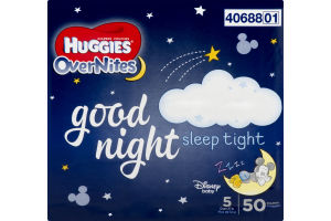 Huggies OverNites Diapers Disney Size 5 - 50 CT