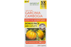 Nature's Science 100% Pure Garcinia Cambogia Caplets - 100 CT