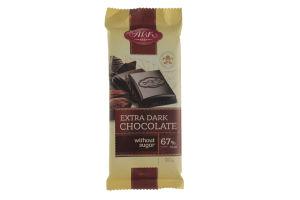 Шоколад Экстрачерный без сахара 67% АВК 90г