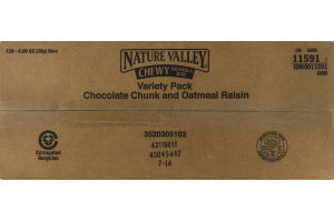 Nature Valley Chewy Granola Bar Variety Pack Chocolate Chunk and Oatmeal Raisin - 120 CT