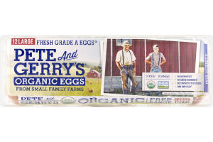 Pete And Gerry's Organic Eggs Large Fresh Grade A - 12 CT