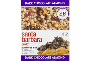 Santa Barbara Bar Dark Chocolate Almond - 12 CT