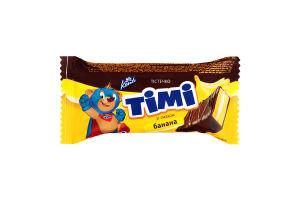 Тістечко бісквітне зі смаком банана Тімі Konti м/у 50г