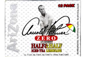 AriZona Arnold Palmer Zero Half & Half Ice Tea Lemonade - 12 PK