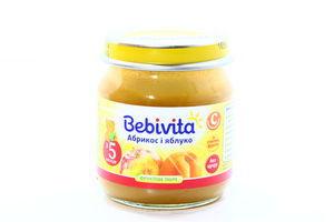 Пюре для детей от 5мес Абрикос и яблоко Bebivita с/б 100г