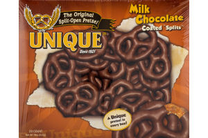 Unique Pretzels Milk Chocolate Coated Splits - 20 CT
