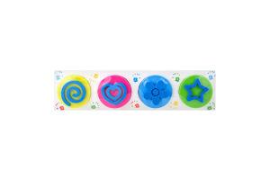 Набор для творчества для детей от 3лет №TA1402 Рисуем пальчиками Неоновые цвета Genio Kids 1шт