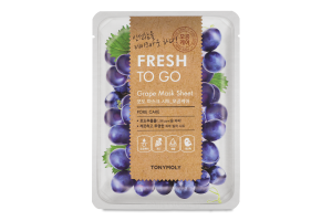 Маска для обличчя тканинна Grape Fresh To Go Tonymoly 20г