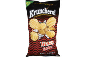 Krunchers Kettle Cooked Waves Original Potato Chips