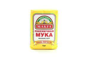 Мука пшеничная высший сорт Makfa м/у 1кг