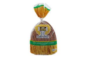 Хлеб подовый половинка в нарезке Украинский новый Рома м/у 0.375кг