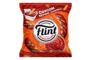 Сухарики пшенично-житні з кетчупом Томатний Ковбаски BBQ Flint м/у 70г